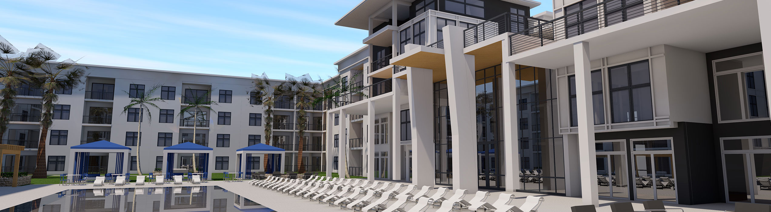 NEW AMENITY DESIGN COURTYARD SIDE 12-19-20 | MK Architecture - Commercial Architecture of Southwest Florida